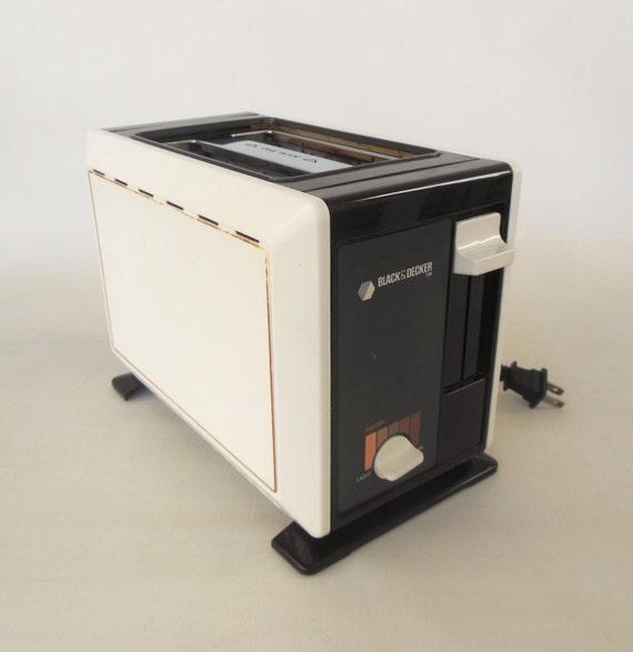 1980s Toaster Black Amp Decker Brown Almond 2 Slice Small