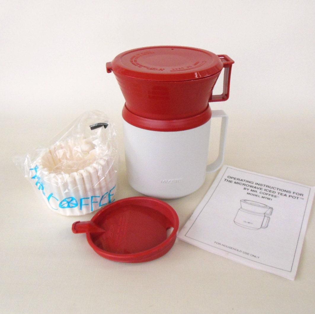 Mr Coffee Microwave Iced Tea Maker Travel Mug 1991 Mtm1