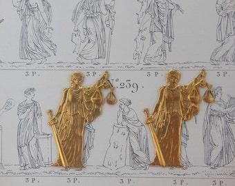 Roman Goddess of Justice (2 pc)