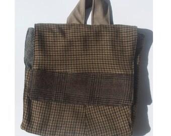 Child Brown Tweed Backpack