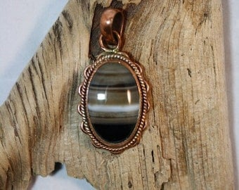 Black Striped Agate Pendant - Item 84