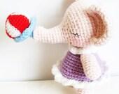 AMIGURUMI PATTERN : Baby girl Elephant