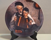 Norman Rockwell Collectors Plate Rockwell's Heritage Series The Music Maker