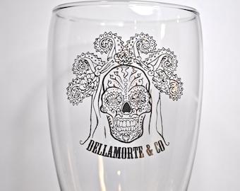 Dia de los Muertos Pint Glass