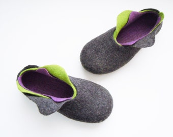 Felted 3 layer slippers