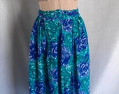 Bright Aqua Colored Retro Maxi Skirt