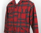 Vintage 60's 70's PENDLETON Wool Mackinaw Cruiser Hunting Lumberjack mens shirt jacket Large XL