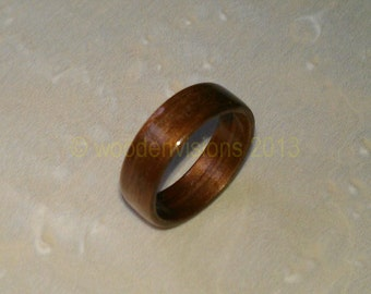 Hand Made ( Bentwood Method ) Black Walnut wooden ring