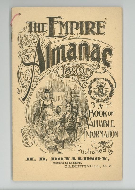 The Empire Almanac For 1899 Antique Almanack Paper Ephemera