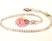 For Mother, Pink Necklace, Swarovski Heart Pendant, Shops in UK
