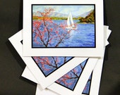 Spring Sail on Smith Mountain Lake (4 Note Cards)