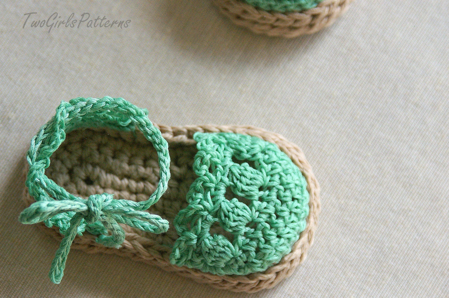 Crochet Pattern Baby Booties Orchid Sandals : CROCHET PATTERN 119 Baby Girl Espadrille Sandals