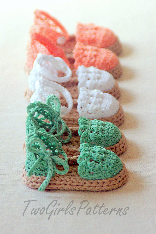 Crochet Patterns To Download : Instant download Crochet PATTERN pdf file Summer Sandals