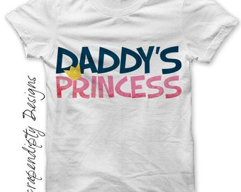 Daddy's Princess Iron on Transfer - Daughter Iron on Shirt PDF / Kids Girls Clothing Tshirt / Daughter Shirt / Princess Baby Clothes IT166-C