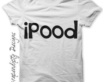 Ipood Iron on Shirt PDF - Ipeed Iron on Transfer / DIY Cute Baby Clothes / Baby Shower Gift / Children Infant One Piece Design IT162-R