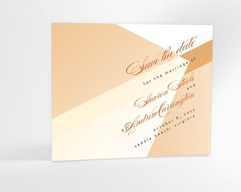 Ultra Chic and Modern Save the Date Cards, Abstract Wedding Announcements, Modern Bride, also available as a postcard