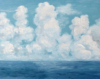 Clouds over Cozumel Copy of my original Oil Painting