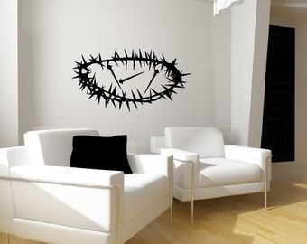 Crown of Thorns and Three Nails Christian Vinyl Wall Decal 22286
