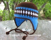 Crochet Pattern 053 - Crochet Hat Pattern - Hat Crochet Pattern for  Hat with Bear Ears Ear Flap Hat Baby Boys Girsl Toddler Children Winter