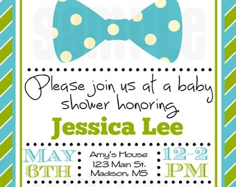 Bow Tie Baby Shower Favors
