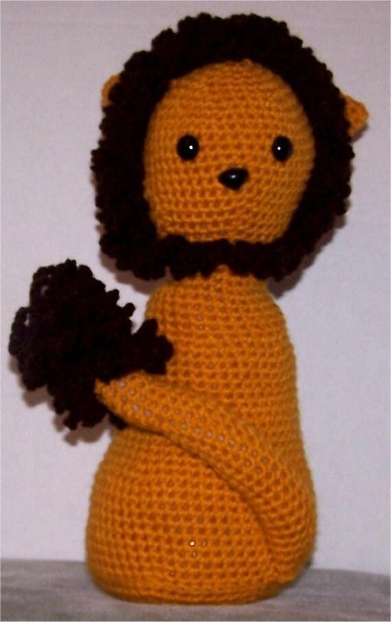 Items similar to crochet lion door stop art doll cowardly lion wizard of oz counter top - Wizard of oz doorstop ...