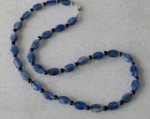 Blue kyanite necklace with lapis lazuli ladies necklace 18 inches