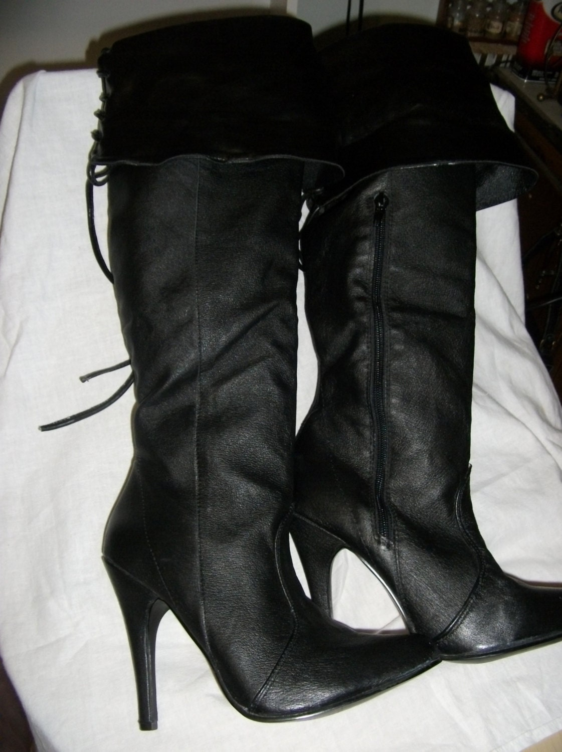 vintage thigh high pirate boots from ellie 4 1 2