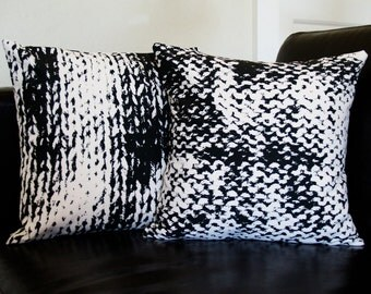 Set of 2 Kint/Purl & Purl/Knit 14 x 14 Throw Pillow (CASES ONLY)