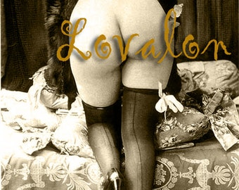 MATURE... Mink Fur... Deluxe Erotic Art Print... 1920's Vintage Nude Fashion Photo... Available In Various Sizes