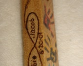 Family Love Key Chain  is a 4 sided burn on pine.