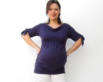 Maternity Drape Neckline Tshirt, Maternity,Spring,Autumn, Maternity Tshirt, Maternity Clothing, Maternity Office, Pregnancy, Ready to Ship