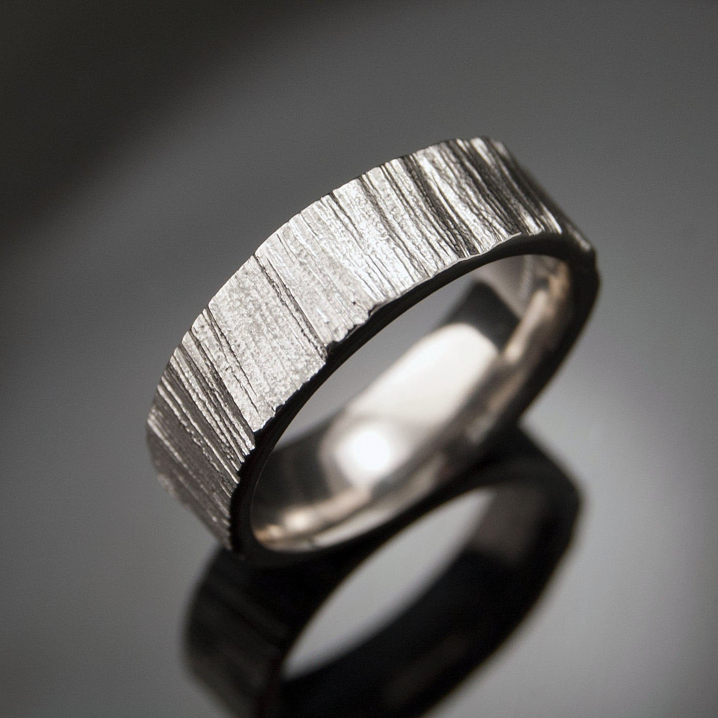 saw cut wedding band ring textured wedding rings for sale zoom