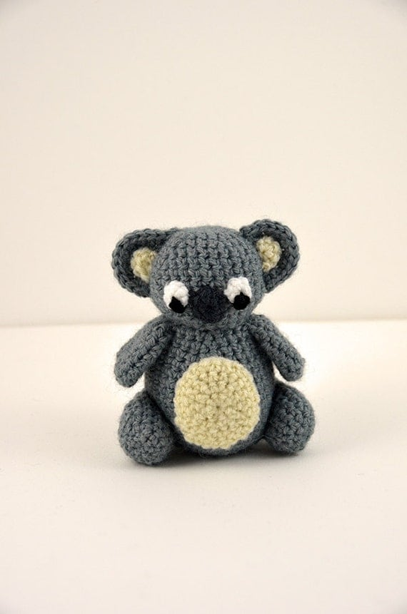 Amigurumi Koala Pattern : Koala Crochet Pattern Amigurumi Koala Pattern Crochet Koala