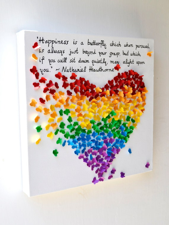 3d Quotes About Love : INSPIRATIONAL QUOTE - 3D Butterfly Heart with Your Favorite Quote / 3D ...