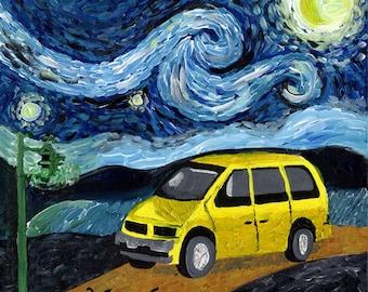 Van Go // Van Gogh pun funny art print