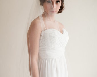 Chapel Length Tulle Wedding Veil, Bridal Veil, 90 inches - Lydia - Style 7813