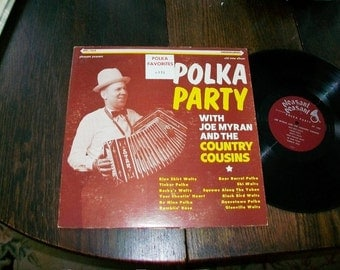 Polka Party With Joe Myran and the Country Cousins Vintage LP Record