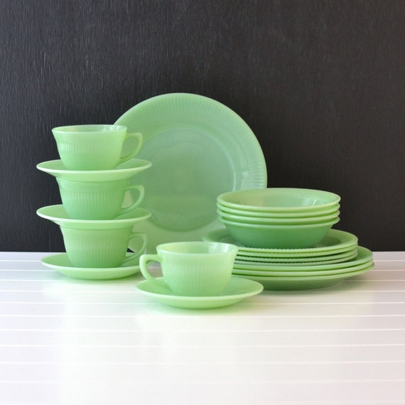 Reserved For Christina Fire King Jadeite Jane Ray Pattern