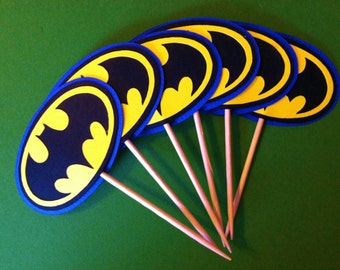 Batman Inspired Cupcake Toppers
