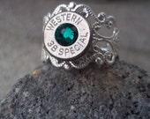Bullet vintage Ring- Emerald-May Birthstone