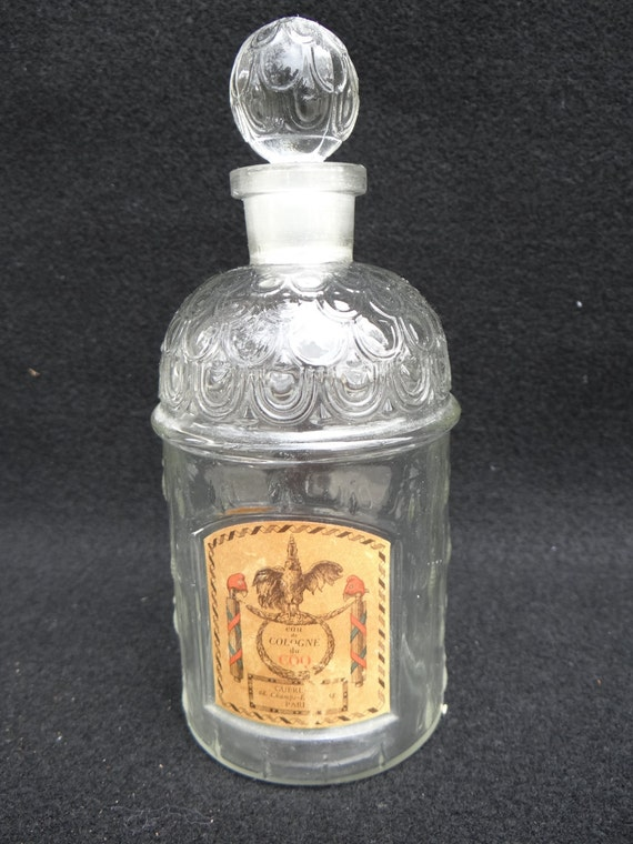 Vintage French Perfume Bottle With Stopper Guerlain Paris