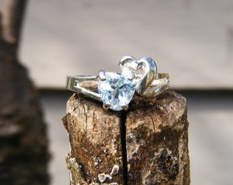 Sweetheart Aquamarine & Sterling Silver Ring