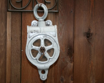 Vintage Metal Pulley - Industrial - Farming