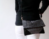 Fold Over Cross Body Bag with Removable Strap