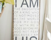"""I AM HIS - 18"""" x 36"""" ( new size )"""