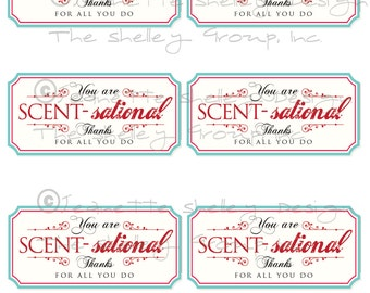 """instant download... Printable Appreciation """"You Are Scent-sational"""" Gift Tags"""