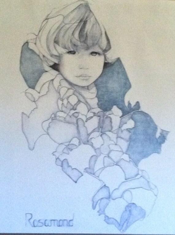 Christine Rosamond Original Litho Print Stacy