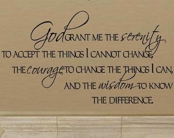 Serenity Prayer Wall Decor god grant me   etsy