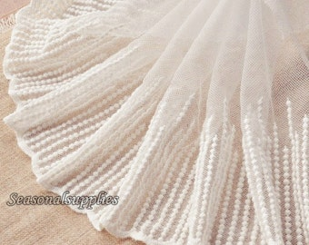 2 Yards Lace Trim,Bridal,Off white Victorian Style,Bridal,Embroidery,22cm width,Sewing, Lace Trim (W63)