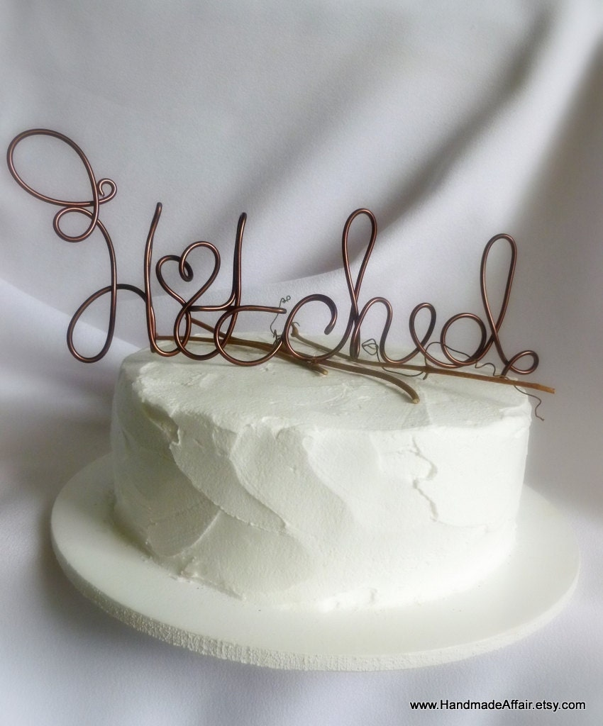 Rustic Wedding Cake Topper Country Decor Hitched By HandmadeAffair